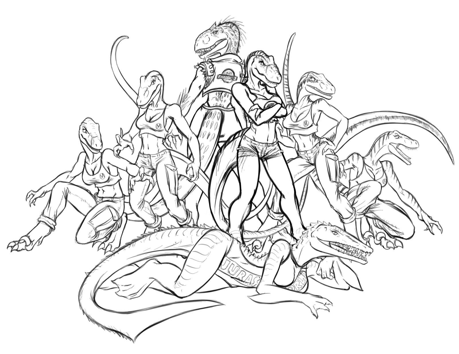 Jurassic World Crew by Predaguy