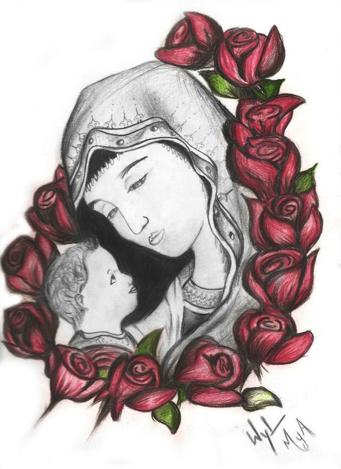 Virgen De Guadalupe Drawings | New Calendar Template Site