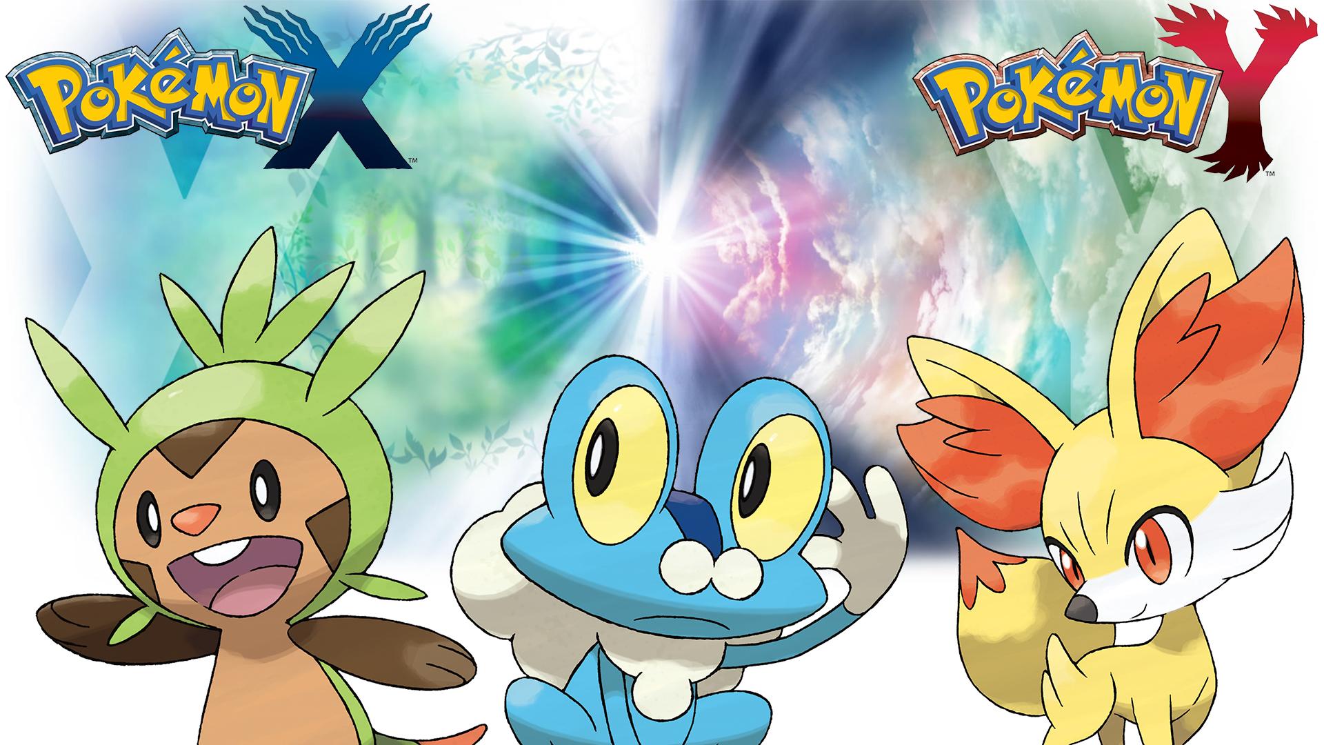 Pokemon X Y Wallpaper Starters By Thelimomon On Deviantart
