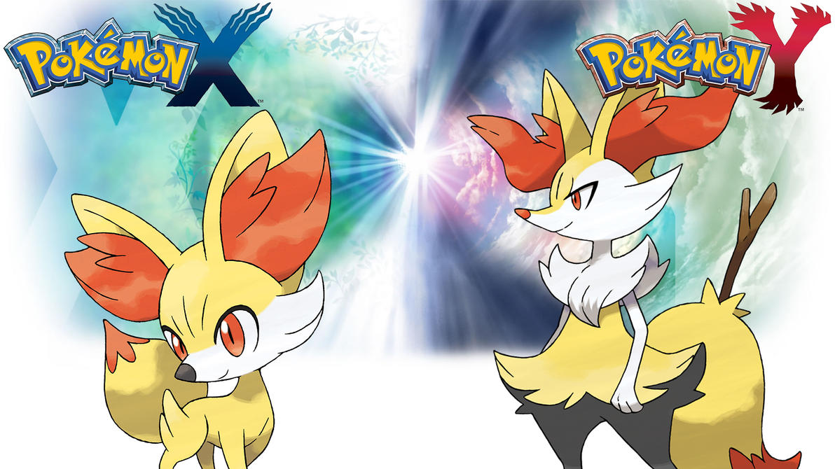 Pokemon X Y Wallpaper Fennekin And Braixen 401710972