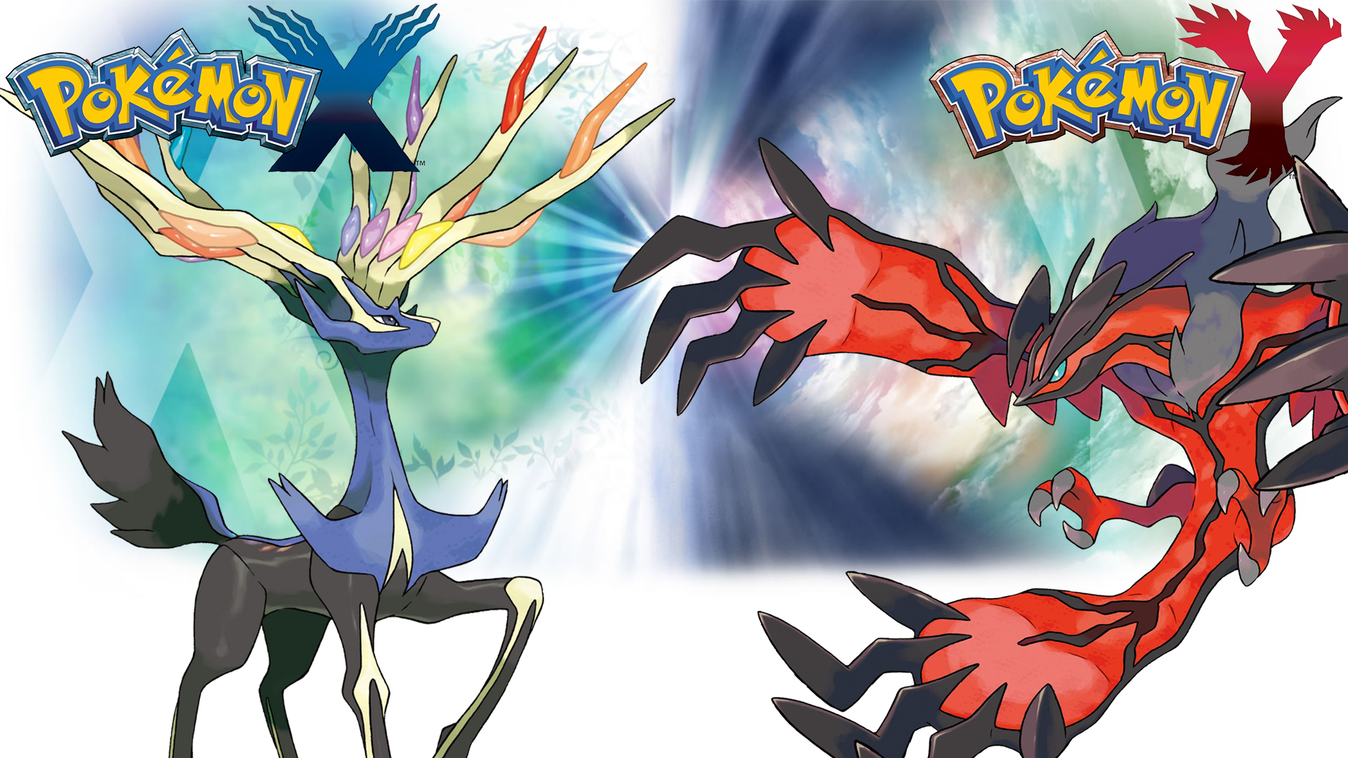 Pokemon X Y - Wallpaper - Xerneas and Yveltal by ...
