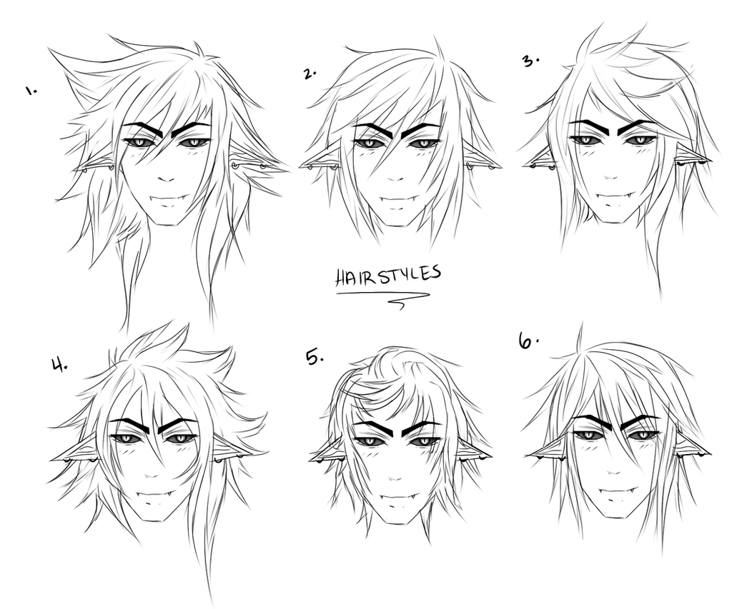 How to draw spiky boy hair