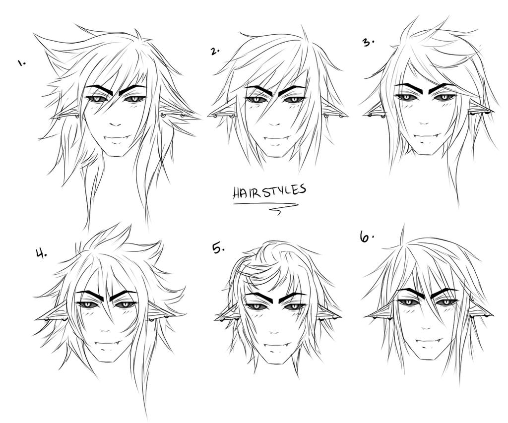 Male Hairstyles By Lynnrenk On DeviantArt