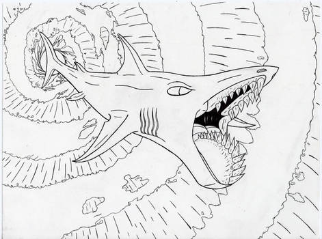 Whorl tooth shark