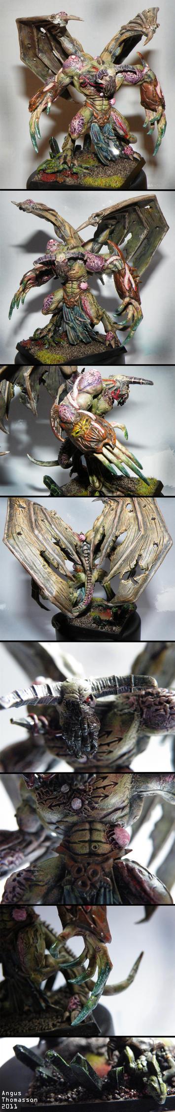 Nurgle Daemon prince by GARAWRGA