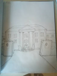 attempt to draw a house / mansion