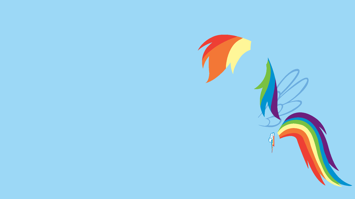Minimalistic rainbow dash wallpaper
