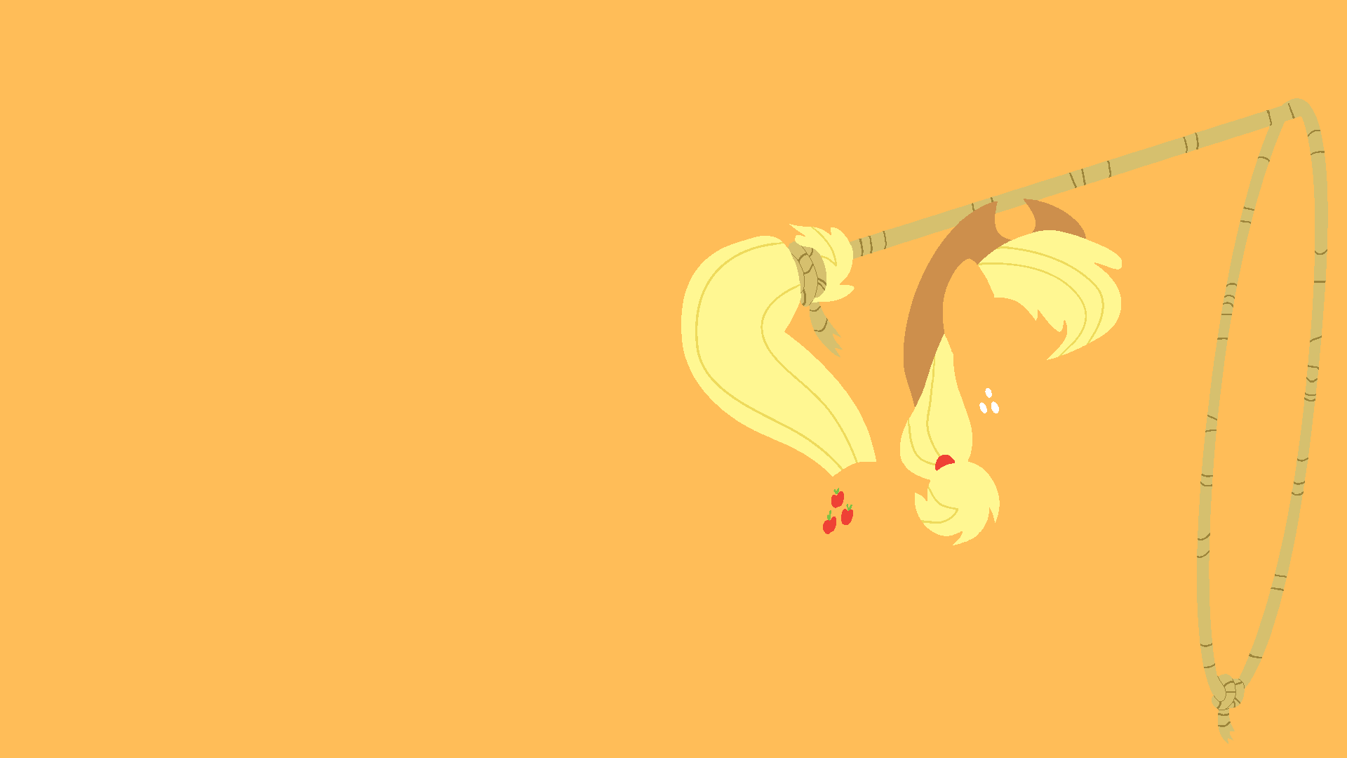 Applejack minimalist wallpaper 1299037 for Minimalist art pieces