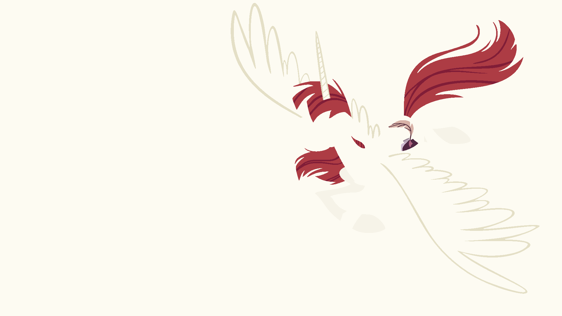 Lauren Fausticorn Minimalistic Wallpaper by Kitana-Coldfire