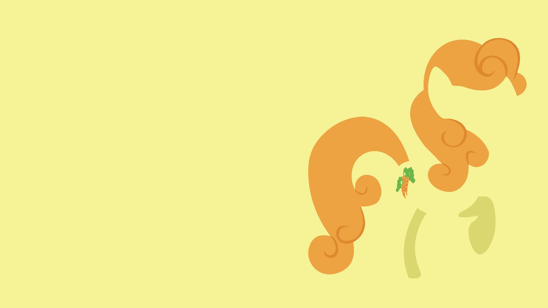 Carrot Top Minimalistic Wallpaper
