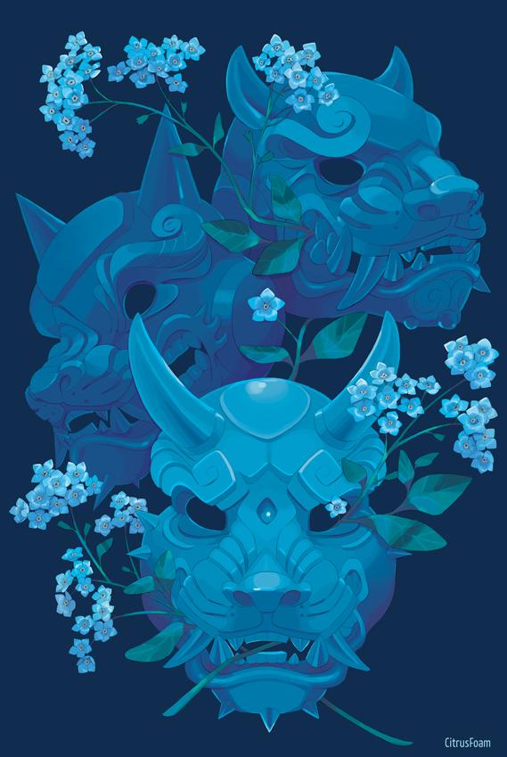 Blue Masks by CitrusFoam