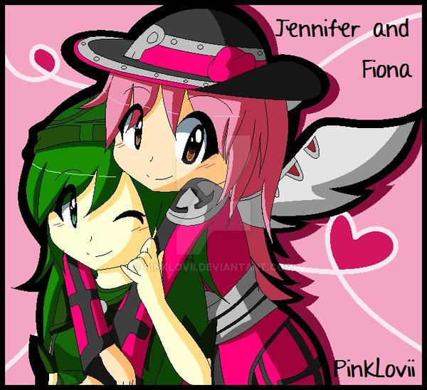 Jen and Fee :Original: by PinkLovii