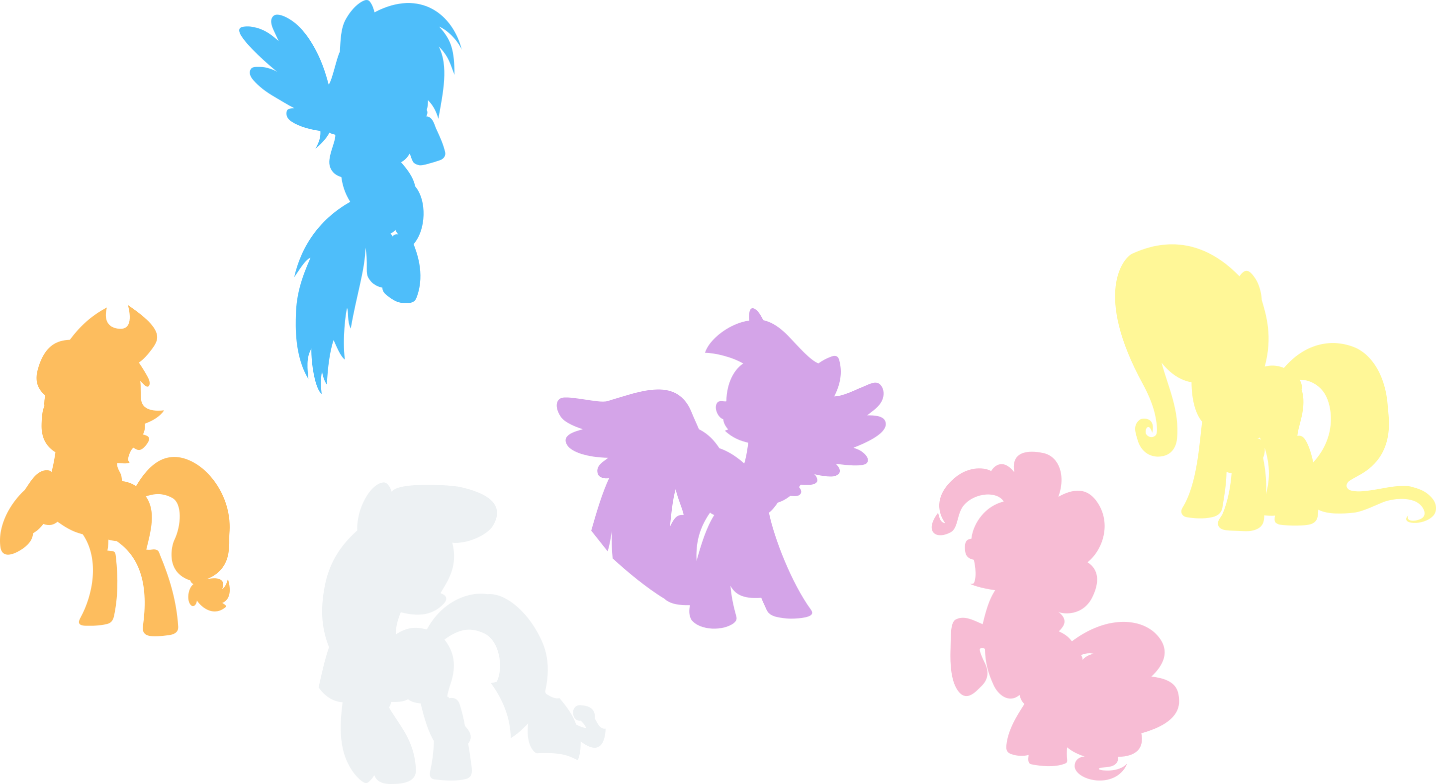 mane_6_silhouettes_by_esc54-d6ifru1.png