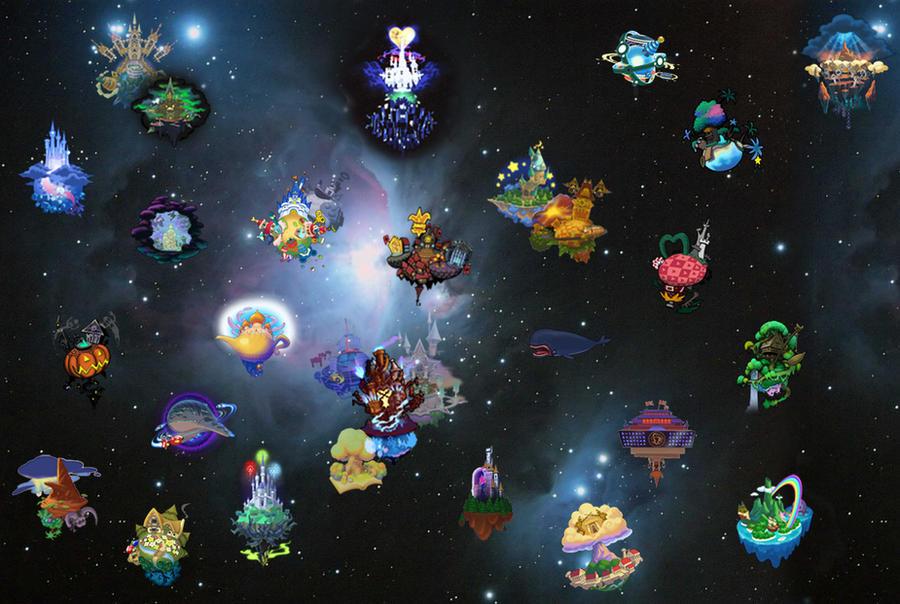 Kingdom Hearts World Map | World Map 07