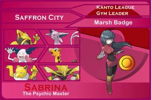 Kanto Gym Leader 6-Sabrina by JohnRiddle20