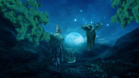 Floating Islands Fantasy by ednasnake
