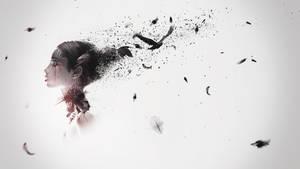 Abstract crow girl