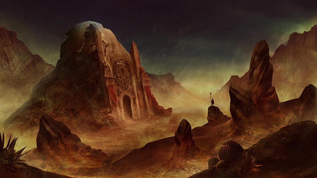 Desert temple by SolFar