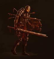 Skeleton warrior by SolFar