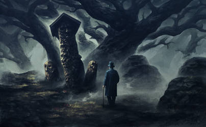 Eerie forest by SolFar