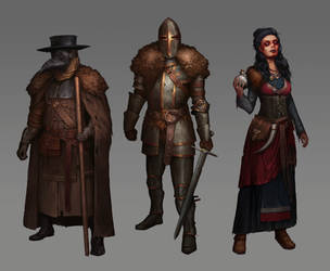 Medieval characters practice by SolFar