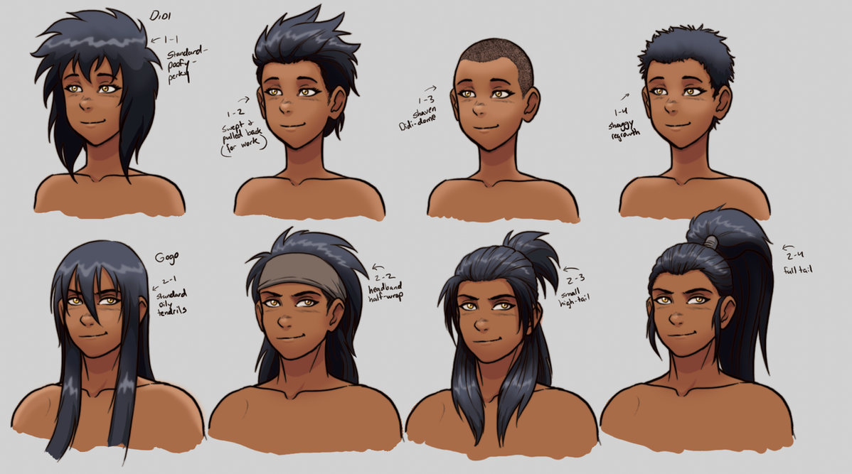 D G Hairstyles Ref Sheet By VanHeist