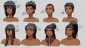 D-G hairstyles ref sheet