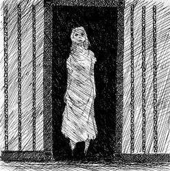 Inktober Sketch: Specter in the Doorway by VanHeist