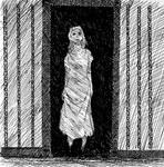 Inktober Sketch: Specter in the Doorway