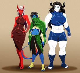 Three Infernal Sisters by VanHeist