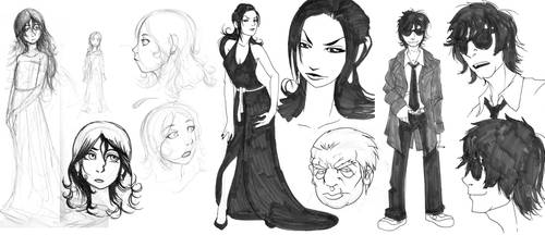 The Dirge Character roughs