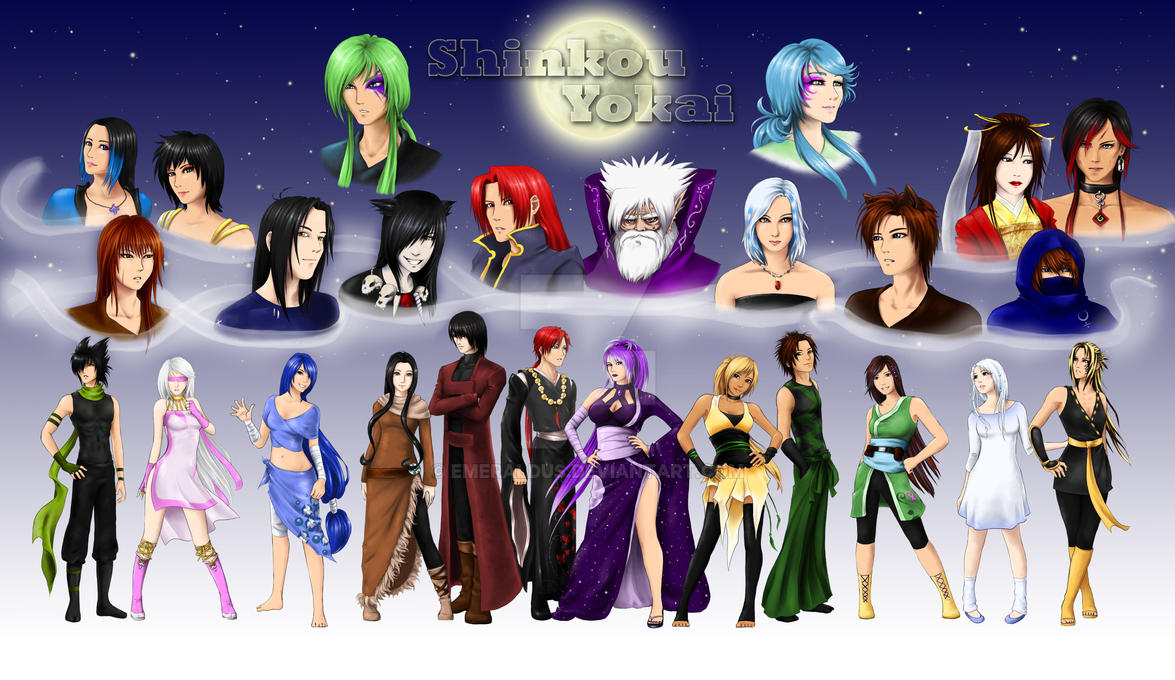Shinkou Yokai Group Picture by Emeraldus