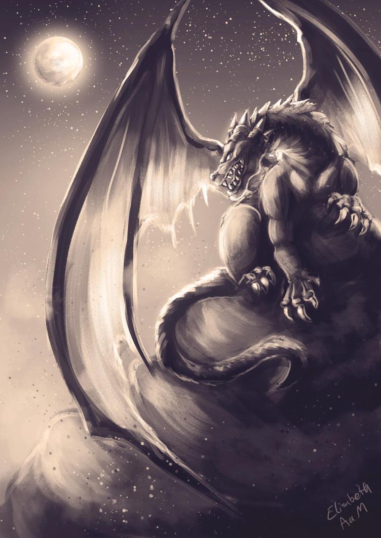 Dragon Sketch by Emeraldus