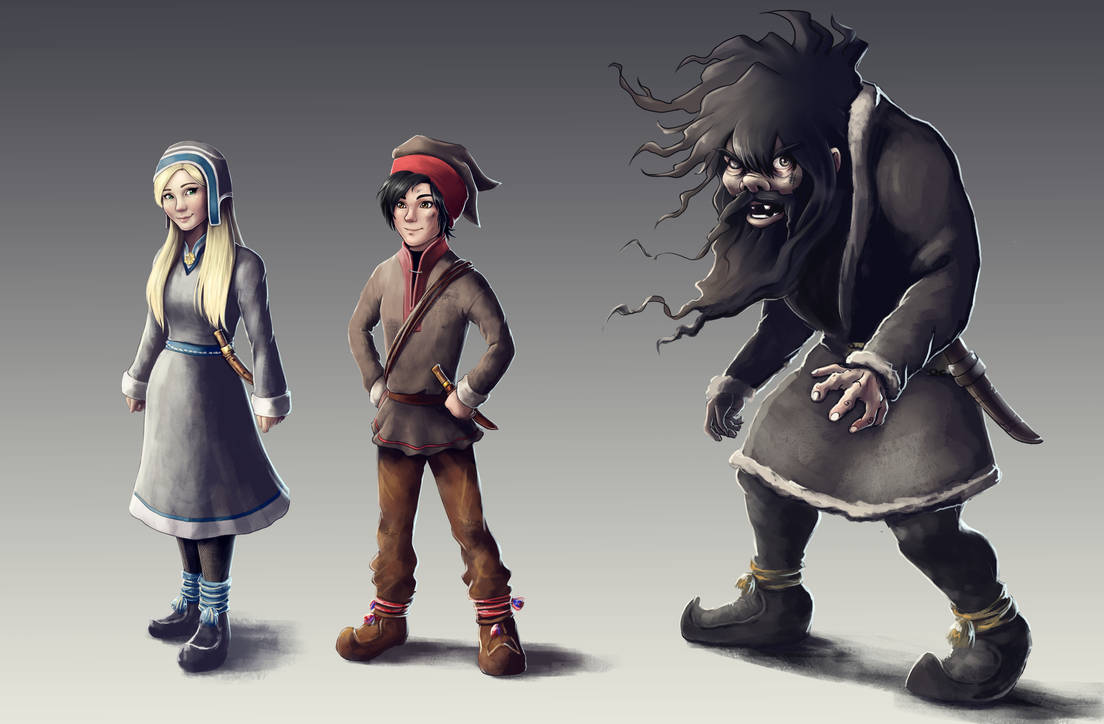 The boy who tricked Stallo - Character designs by Emeraldus