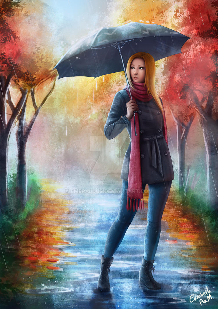 Autumn Rain by Emeraldus