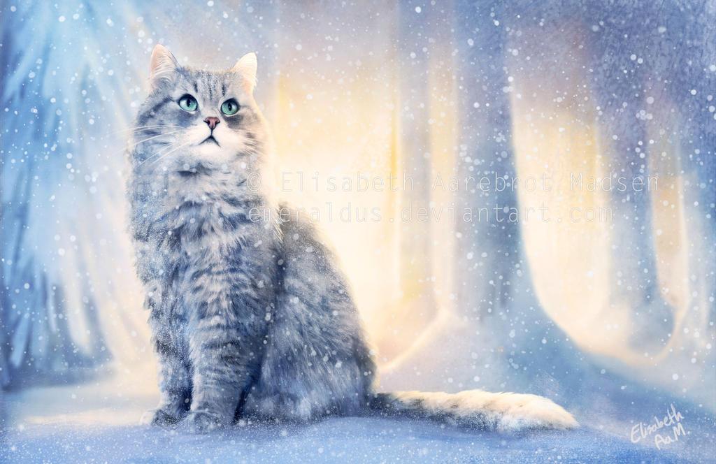 snowman - Animal Stock Photos - Kimballstock  |Winter Scenes With Cats