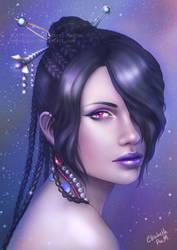 Final Fantasy X - Lulu Portrait by Emeraldus