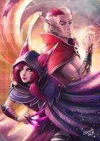 Xayah and Rakan by Emeraldus