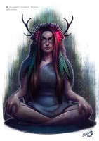 Cavewoman by Emeraldus