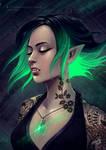 Green Glowing Vampire