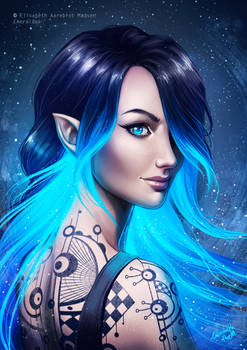 Blue Glowing Vampire