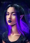 Purple Glowing Vampire