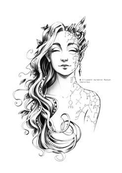 Tattoo design - Nature VS. Machine
