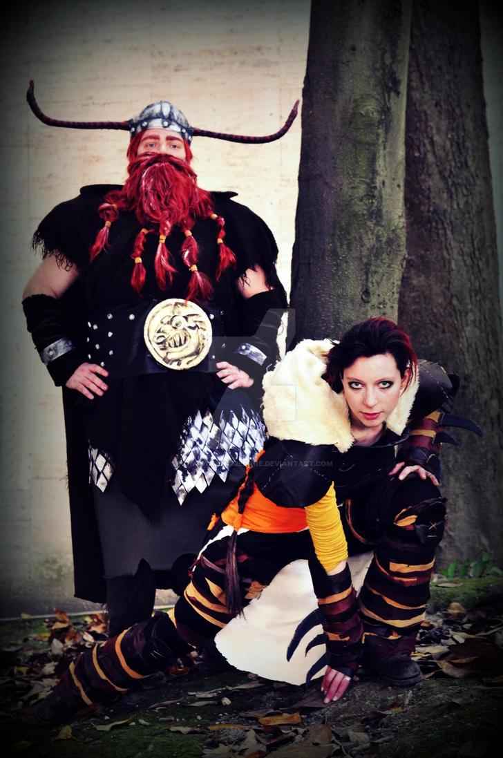 Valka and Stoick - Dragon Trainer by nonsochenomedare