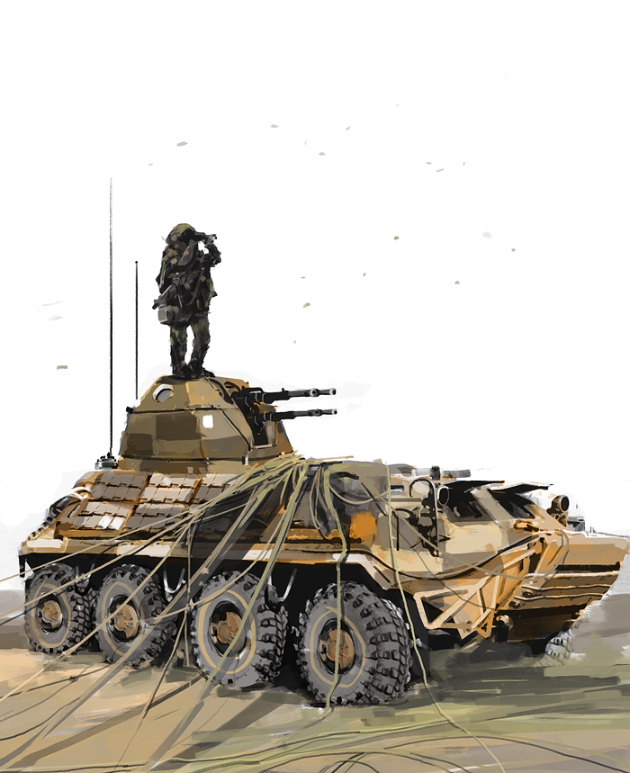 BTR MVII ground vehc support - warvehicle concept by TraceLandVectorie03