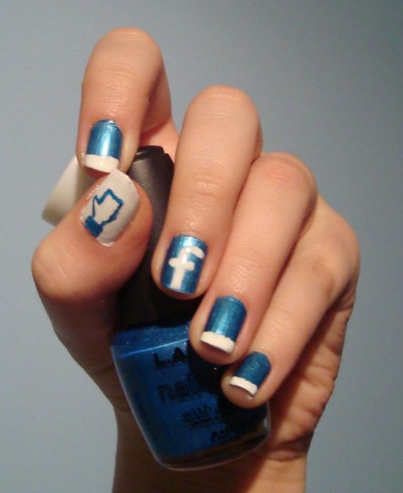 Facebook nail art by nono-la-bulle04 on deviantART