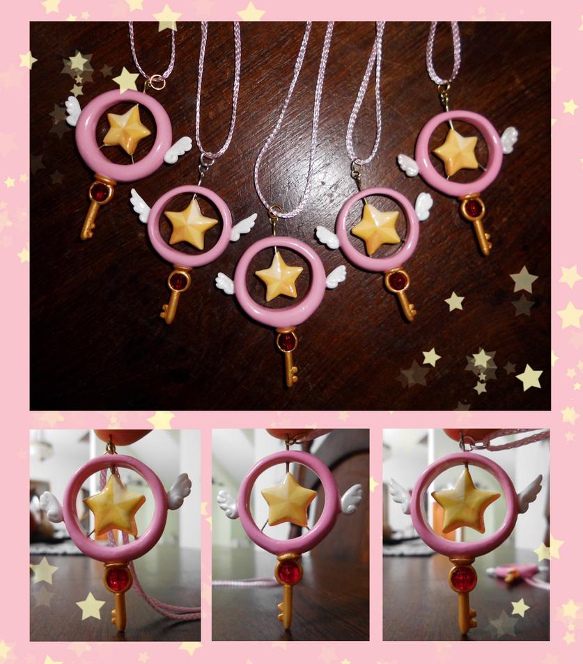 Sakura's Star Key pendants by Nanahuatli