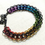 Full persian black and rainbow bracelet by Nanahuatli