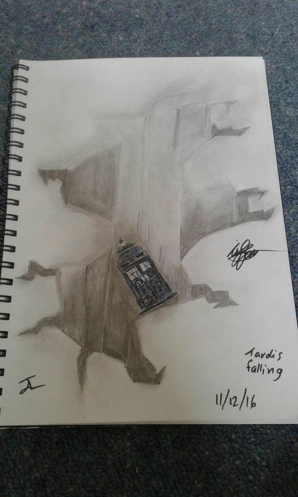 Tardis falling by allentj