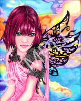 Colorful KH3 Kairi by SugarPopBlossom